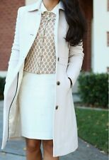 J.Crew Antique White Double-Cloth Lady Day Coat With Thinsulate Size 12