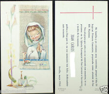 OLD FIRST COMMUNION REMEMBRANCE HOLY CARD YEAR 1965 ANDACHTSBILD SANTINI   C1089