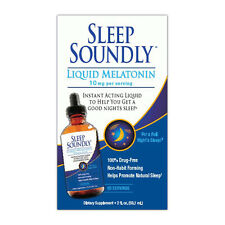 Sleep Soundly Melatonin Fast Acting Liquid 10mg per Serving 2oz Sleep Aid