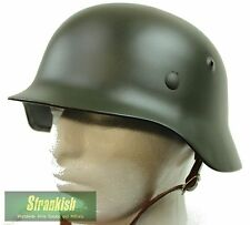 WW2 M35 GERMAN STEEL HELMET STAHLHELM REPLICA BLACK 58-63cm