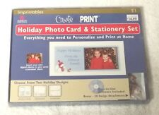 AMERICAN GREETINGS Imprintables Create & Print HOLIDAY PHOTO CARD STATIONERY SET