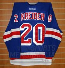 Chris Kreider New York Rangers Signed Autographed Game Worn Jersey Steiner COA
