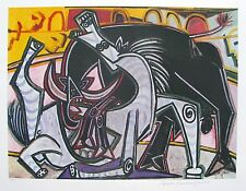 Pablo Picasso Estate Signed & Numbered Giclee BULLFIGHT