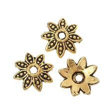100x tapas de perlas perlkappen remates filigrana flores para 10mm perlas metal