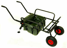 BISON  FISHING TWO WHEEL BARROW WITH BARROW BAG FISHING TROLLEY