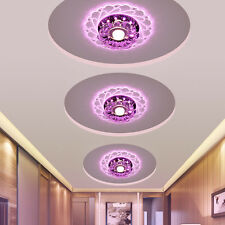 Indoor LED Purple Light Ceiling Chandelier Lamp For Bedroom Living Room