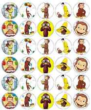 30x Curious George Cupcake Toppers Edible Wafer Paper Fairy Cake Toppers