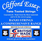 CLIFFORD ESSEX 5 STRING BANJO STRINGS. BLUEGRASS & MANY MORE. MADE IN BRITAIN.