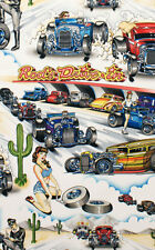 Alexander Henry Drag Race Hot Rod Pin Ups Fabric Per Metre Rockabilly