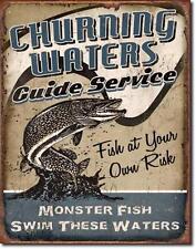 Pesca sportiva pescatore USA Metallo Decorazione Scudo-mostro pesce
