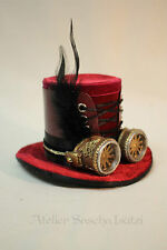 Katherine´s Collection kleine Steampunk Hut Box Schachtel Samt Rot NEU 8cm