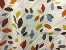 """Prestigious fabric curtain material """"SCATTERED LEAVES""""lovely piece 3.7mtrs"""