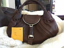 Authentic Fendi Spy Bag Shoulder Bag Nappa Leather EUC