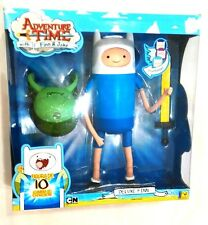 "ADVENTURE TIME 10"" DELUXE FINN figure w/Changing Faces. NEW!"