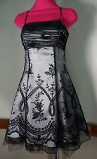 Morgan & Co' Women's Black & White Spaghetti Strap Lace Up Dress Size 5/6