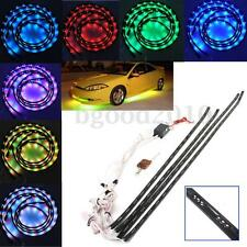 "7 Color LED Under Car Glow Underbody System 2x48"" & 2x36"" Neon Light Kit Remote"