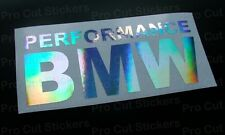 150mm (15cm) Performance BMW Car Window Bumper Sticker Decal Hologram Chrome