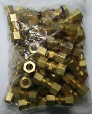 Brass Fittings: Brass Compression Union Size 3/8 OD, Quantity 50