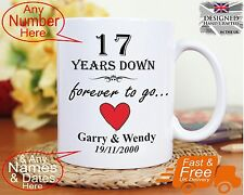 17th wedding anniversary gift 17 years marriage, Any dates names any anniversary