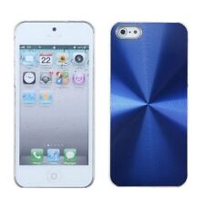 For Apple iPhone 5/5S/SE Blue Clear Cosmo Aluminum Metallic Case Cover