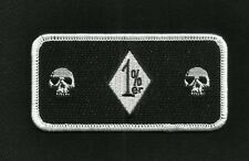 1%ER MC OUTLAW DEATH SKULLS ONE PERCENTER MOTORCYCLE BIKER PATCH