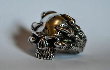 Massive Solid Sterling Silver 925 Skull Ring with Claws Size U (US size 10) 32g