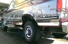 1987-96 Ford F-Series Pickup Crew Cab Long Bed Chrome Rocker Panel Trim-6""