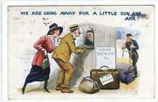 (Lv387-100) We Are Going Away For A Little Sun And Air, 1921 Used G-VG