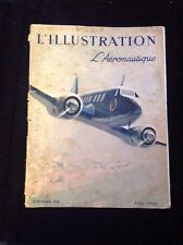 1938 L'ILLUSTRATION FRENCH MAGAZINE, AVIATION, ADS.COVER PRINT BY Albert Brenet