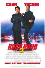 RUSH HOUR 2 MOVIE POSTER Original DS 27x40 JACKIE CHAN CHRIS TUCKER 2001