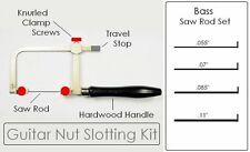 GuitarTechs NUT SLOTTING FILE KIT for 4 Bass Guitar Luthier Tool