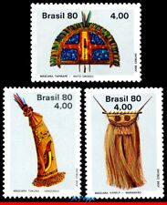 1686-88 BRAZIL 1980 INDIGENOUS ART, MASK, COSTUME, SET MNH