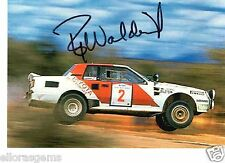 Rally Driver Bjorn Waldegard Hand Signed Promo Card - Ultra Rare