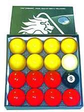 "POWERGLIDE 17/8"" REDS & YELLOWS POOL BALLS"