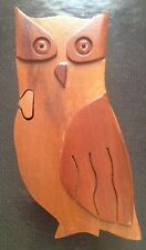 WOODEN OWL KEEPSAKE BOX *JEWELRY OR TRINKET BOX *FELT-LINED *UNIQUE DESIGN!!