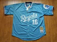 Men's Throwback Bo Jackson Powder Blue Royals Jersey! NEW! Stitched!