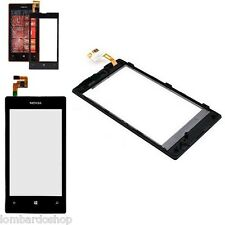 TOUCH SCREEN VETRO PER NOKIA LUMIA 520 NERO CON FRAME CORNICE DISPLAY