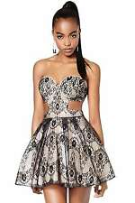 NWT Nasty Gal Collection Mischief Maker Lace Dress sz S.  Lace cut out. Mini