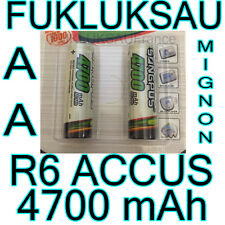 2 x PILES AA | PILES ACCUS RECHARGEABLE MIGNON 4700mAh Ni-MH 1,2V R6 LR06 NEW