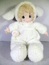 SINGLE PRECIOUS MOMENTS DOLL COLLECTION IN LAMB SUIT OUTFIT 1998 16""
