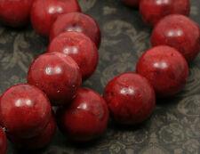 4x echte Korallen Perlen 12mm rot sb155