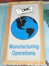 OMC World Headquarters MFG Sign Johnson Evinrude 1929-2000 Outboard Marine Corp