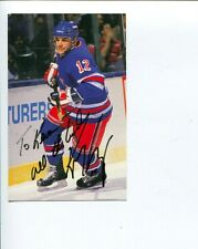 Kris King NY New York Rangers Winnipeg Jets Captain Signed Autograph Photo