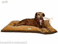 Armarkat Faux Suede Washable Dog Puppy Cat Pet Pillow Bed Mat Mocha/Brown Large