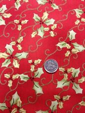 100% Cotton Fabric By 1/2 Mtr Joy Love Peace Noel Henry Glass Christmas Holly