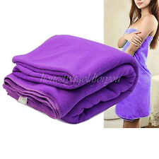 180x80cm Quick Dry Large Microfiber Bath Gym Towel Beach Family Towels Purple