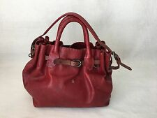 "Henry Beguelin Red Leather ""Storm"" handbag ~Made in Italy~"