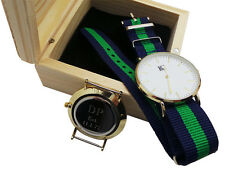 Secret Message Wristwatch Luxury Watch Free Engraving  Wooden Case Engraved
