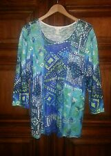 CHICO'S SEMI SHEER KNIT MULTI-COLOR SWEATER TUNIC~SZ.3~NEW