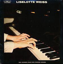 LISELOTTE WEISS BERG SCHOENBERG EISLER RAVEL HONEGGER GRANADOS BIS LP 23